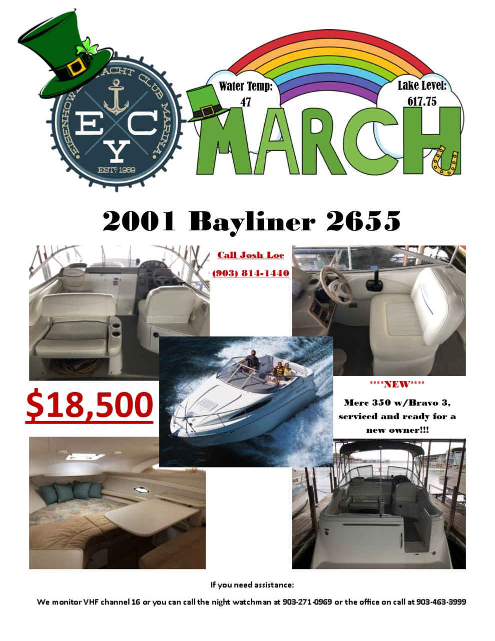 March 2020 Newsletter flyer